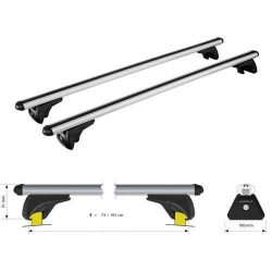 Dakdrager stangen aluminium in-rail 108 cm