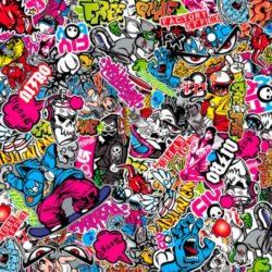 Stickerbomb Folie Graffiti design 1
