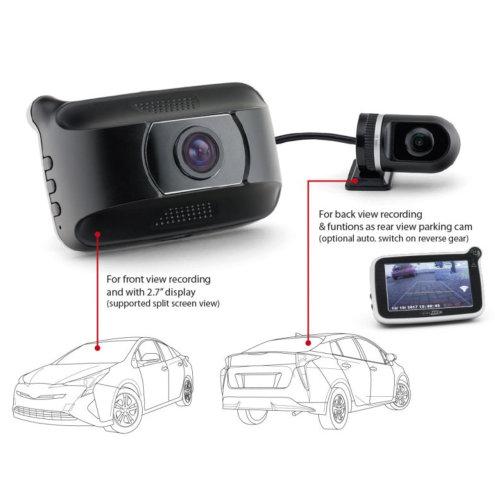 Dashcam 2.0mp met G-sensor en achtercamera 8