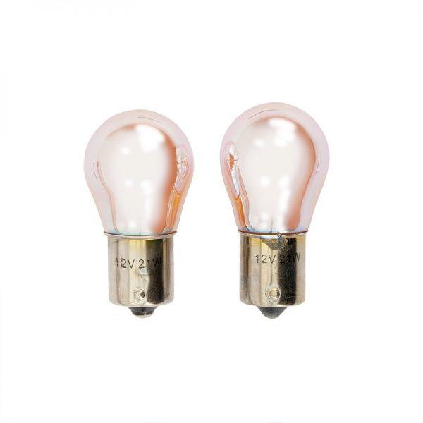 BAU15S Lampen 21W-12V Amber (ChroomCoated)2stuks