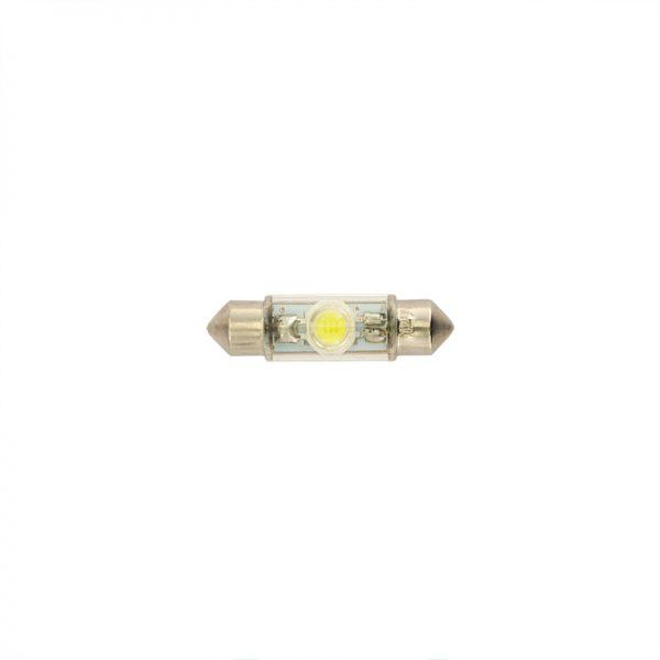 LED Xenon White 10x37 Festoon 1pc