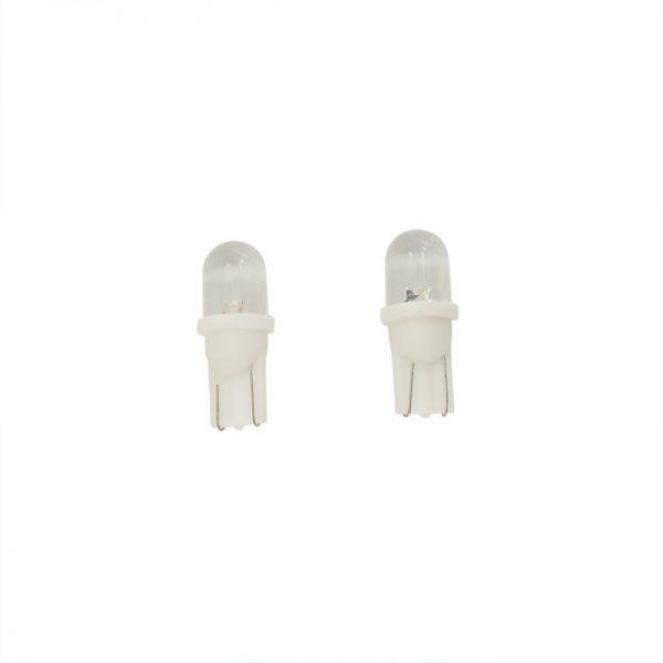 Stadslicht-zijknipperlicht LED 158, T-10 fitting, 2 stuks, extra wit.