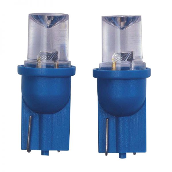 T-8 LED Wedge bulb Blue 12V 2st