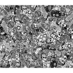 Stickerbomb XL Design 1 Black-White
