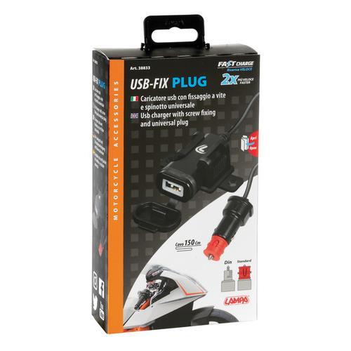 12-24V USB LADER INCL. PLUG MET BEVESTIGINGSSTEUN 2