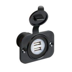 Inbouwsocket 2x USB 12-24 volt